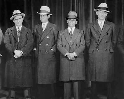 Gangster Mobster MEYER LANSKY & CHARLES LUCKY LUCIANO Glossy 8x10 Photo Print