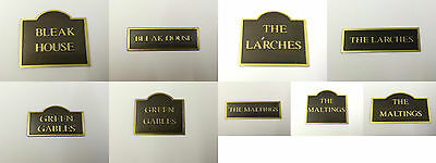 Dolls House Signs Choice of Miniature Dolls House Wall Plaque 1.12th Scale