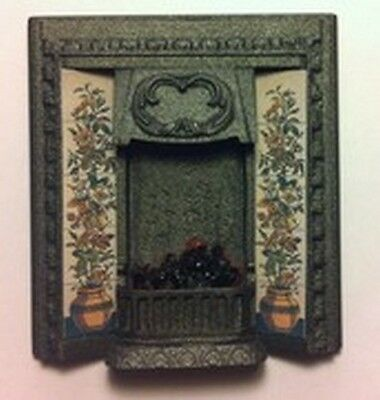 Quality Authentic Fire Centre with Bulb  (C1) Doll House Miniature Fireplace