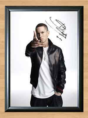 EMINEM SLIM SHADY Music Autograph Signed A4 Poster Photo Print Wall Gift RAP TV