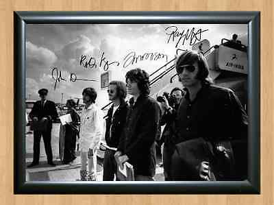 The Doors Jim Morrison Band Signed Autographed A4 Photo Print CD Dvd Poster Pic