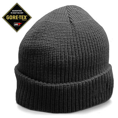Gore-Tex Lined Waterproof Military Police Hiking Army Watch Cap Beanie Hat Black