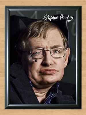 Stephen Hawking Steven Hawkin The Big Bang Theory Signed Autographed A4 Print TV