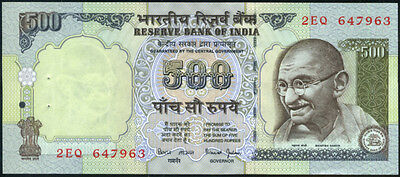 INDIA  500 RUPEES ND (1997-2000)  - P 92b  Sign. 88  Uncirculated Banknotes