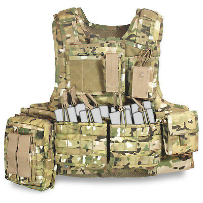 Bulldog Assault MK1 Military Army Tactical MOLLE Plate Carrier Vest MTP Multicam