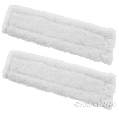 2 x KARCHER WV50 Window Vacuum Cloths Covers Spray Bottle Glass Vac Cleaner Pads