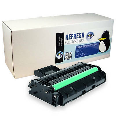 Refresh Cartridges Black 407254 Toner Compatible With Ricoh Printers