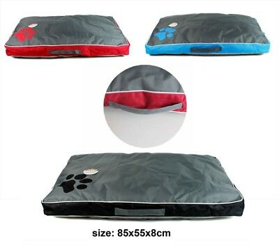 Large Waterproof Pet Bed Puppy Dog Cat Mat Pillow Removable Zipped Cover 85x55cm