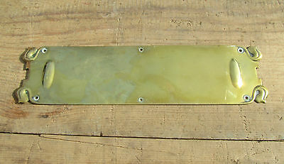 Antique Brass Finger Plate Push Door Handle Art Nouveau Victorian Vintage Old