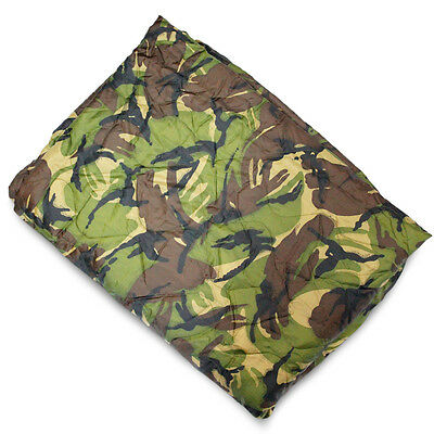 Army GI Rip-Stop Poncho Liner Packable Quilted Picnic Blanket Camping DPM Camo