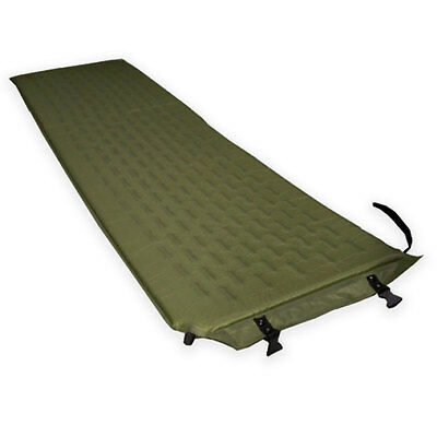 Self Inflating Military Camping Single Camp Bed Sleeping Bag Mattress Mat Green