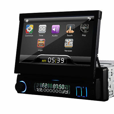 """7"""" HD 1 DIN in Dash Car DVD Player Touch Screen Radio Stereo Bluetooth Ipod ES"""