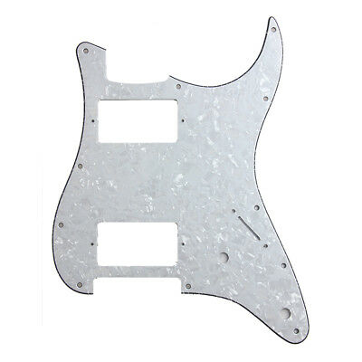 White Pearl Pickguard HH (2 Humbucker)3 Ply for Fender Replacement for Strat
