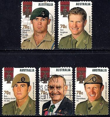 Australia 2015 Australian Legends Complete Set of stamps Postally Used S/A