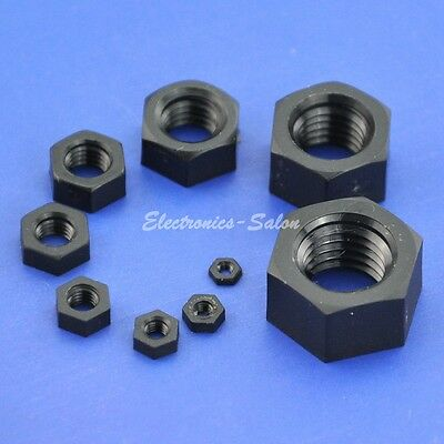 Metric Black Nylon Hexagonal/Hex Nut, M2 M2.5 M3 M4 M5 M6 M8 M10 M12.....