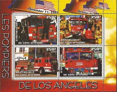 2004 Fire Engines - 4 Stamp  Sheet -   - 9A-319