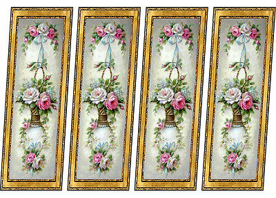 Dolls House Victorian Wall Panels  8 panels Mural 1/12th scale #18