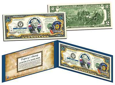 WISCONSIN $2 Statehood WI State Two-Dollar U.S. Bill *Legal Tender* with Folio