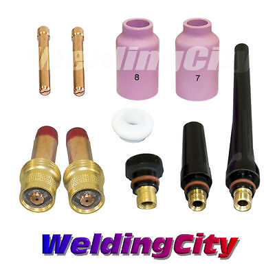 """TIG Welding Gas Lens Accessory Kit (1/16"""") for Torch 17/18/26 T13 