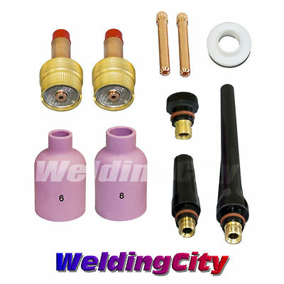 """TIG Welding Large Gas Lens Accessory Kit (3/32"""") Torch 17/18/26 T18 