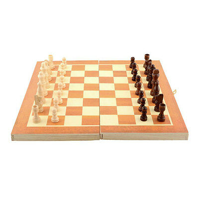 Classic Wooden International Chess Set Board Game Foldable Portable Kids