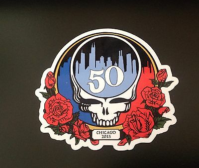 Grateful Dead Chicago 50th Anniversary Show Magnet Steal