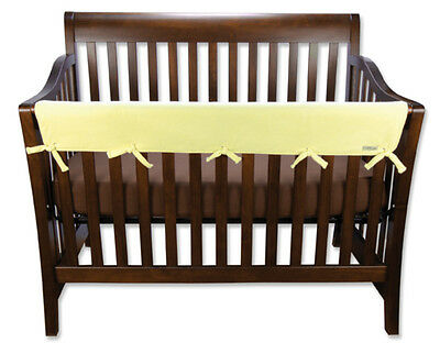 """CribWrap Convertible Crib Rail Cover-51"""" Yellow Fleece By Trend Lab 109091 New"""