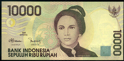 INDONESIA - 10000  RUPIAH  1998/1998    P 137a  Uncirculated Banknotes