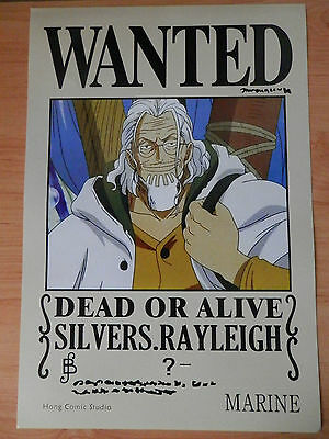 ONE PIECE POSTER SILVERS RAYLEIGH MEIO WANTED 42x29 CM NEW