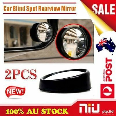 2 Car Rearview Blind Spot Side Rear View Mirror Convex Wide Angle Adjustable AU
