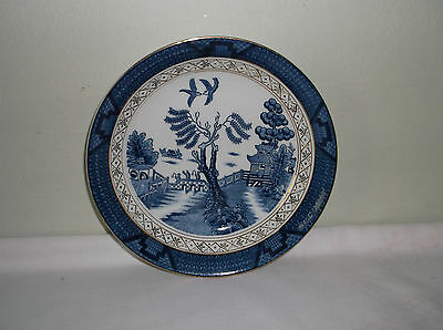 A Beautiful Blue Willow Ironstone Bowl Made in Occupied Japan