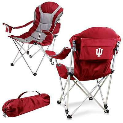Reclining Camp Chair -Red (Indiana University ) Digital Print Tailgate Reclining