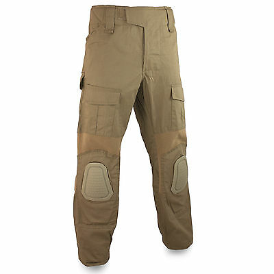 Bulldog ECU2 Combat Military Army Trousers With Knee Pads Airsoft Coyote Tan