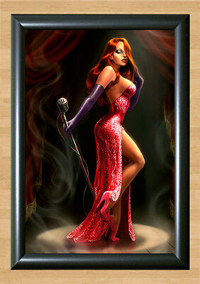 Jessica Rabbit Who Framed Roger Toon Disney Touchstone A4 Poster Photo Print