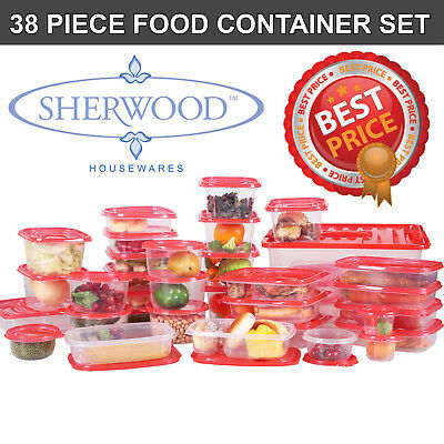 CLEARANCE! NEW: Sherwood 38 Piece Food Storage Set! (Containers& Lids) SALE