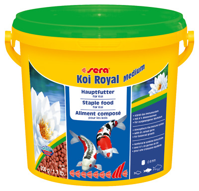 Sera Koi Royal Medium 3800ml Eimer Teichfutter Fische Teich Sticks Goldfische