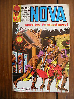 Semic MARVEL DC Comics FRANCE Spiderman BD LUG Super Heros NOVA n°44 Sept 1981