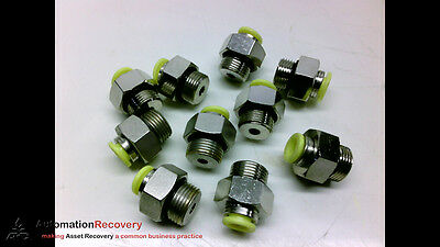 Parker F4Gc8-3/8 - Pack Of 10 - Push-To-Connect Fittings, New* #189253