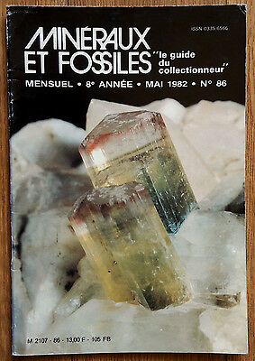 MINERAUX & FOSSILES n 86 / LES CRATERES D'EXPLOSION / ATHERINES / PALEONISCUS