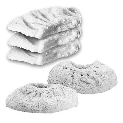 KARCHER K1201 Steam Cleaner Terry Cloth Cover Pads Hand Tool Cleaning Pad x 5