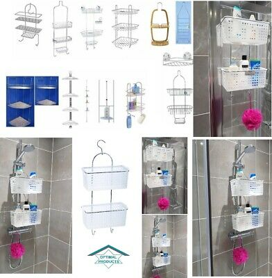 Chrome Stainless Steel Corner Shower Rack Caddy Bathroom Shelf Organizer Unit