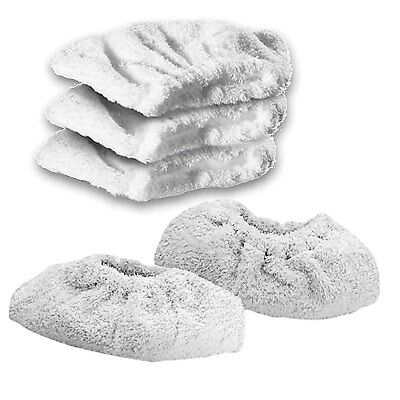 KARCHER K1405 Steam Cleaner Terry Cloth Cover Pads Hand Tool Cleaning Pad x 5