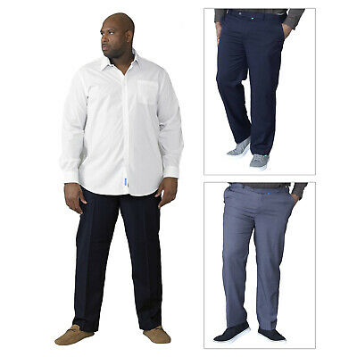 Duke D555 Mens Big King Size Trousers Adjustable Xtenda Waist Smart Casual Pants