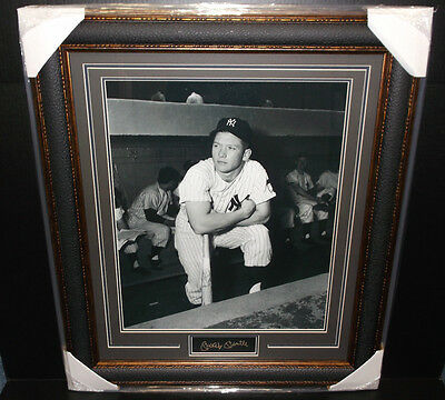 Mickey Mantle New York Yankees Engraved Signature Plates 16X20 Photo Framed