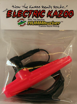 Kazoobie Electric Kazoo with Genuine Hummbucker Pickup, Amp, Computer, Effects