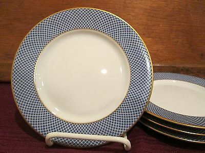 BLOCK BLUE SKIES 4 BREAD & BUTTER PLATES - 6 3/8""