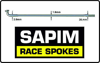 NEW Sapim Race Stainless Steel Double Butted Bicycle Spokes BLACK *PACK OF 6*