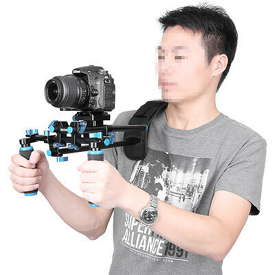 Neewer DSLR Shoulder Mount Support Rig with Camera/Camcorder Mount Slider Kit