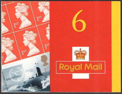 PM2 / SB3(2) Cyl Q1 2001 Submarines 6 x 1st Class Self Adhesive Booklet