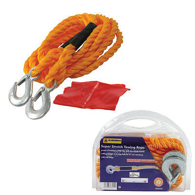 Tow Towing Rope Heavy Duty Emergency Road Car Breakdown Recovery Pull Strong New